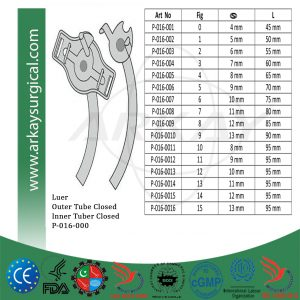 Luer Tracheal Tubes Outer and Inner Closed