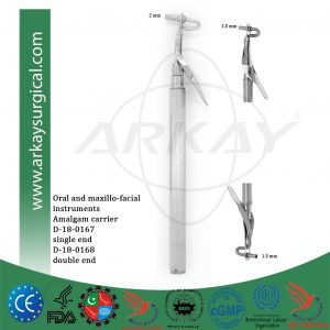 amalgam carrier single end 2mm double end 2.5 mm and 1.5 mm