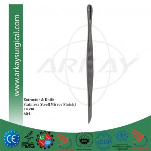 Extractor and knife stainless steel